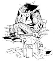 Wolverin on crapper - Inks by ratcrtur