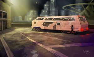Night Bus by FabienMater