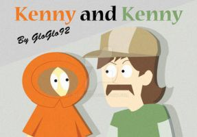 Kenny and Kenny The Walking Dead telltale game by GloGlo92
