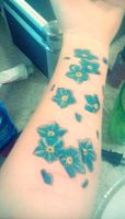 Forget Me Not tattoo by ProxyPierrot