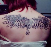 Second Tattoo - Shading. by MindlessKitteh