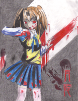 Bloodthirsty School Girl by Spine-Shank