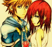 Sora And Kairi. by LilNikiwi
