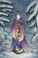 Winter Kimono Kitty by Tanya56