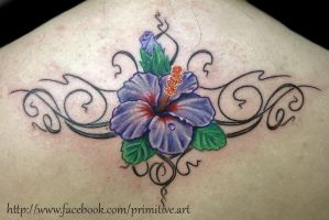 flower tribal by primitive-art