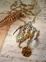 Sea curiosities necklace by janedean
