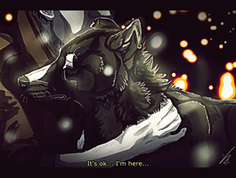 I'm here... by CoLLet-Crane