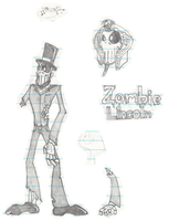 Zombie Lincoln by BaconTree92