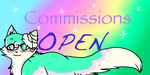 commissions-OPEN button by SoulCats