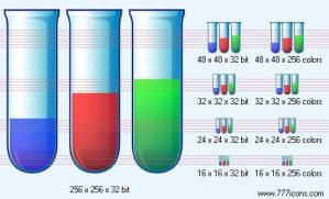 Test tubes Icon by medical-icon-set