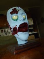 Zombie Head Sculpture by Foredaddy
