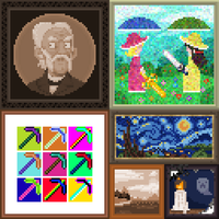 Pixel Paintings by The-Knick