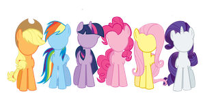 Mane six no face base by TheMightySqueegee