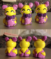 Rosy Maple Moth Charms by mintykoneko