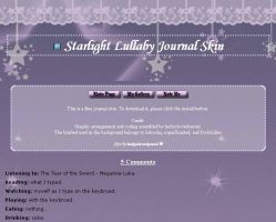 Starlight Lullaby Journal Skin by shiroyanya