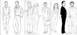 INCEPTION - cast sketches by bluestraggler