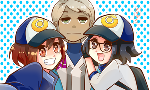Team Mystic Players and Blanche by Mildemme