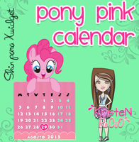 Skin Pony Pink Calendar (Xwidget) by RoohEditions