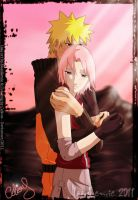 Narusaku: hug collab by Celious