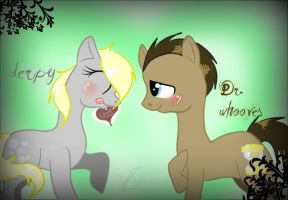 derpy and Dr. whooves by Tea--Monster