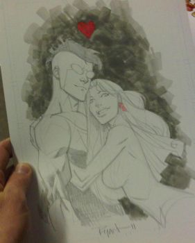 Invincible and Eve AAcomicon by RyanOttley