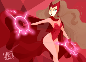 The Scarlet Witch by sekainokyuu