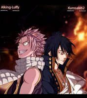 Natsu And Zeref (Collab) by Alking-Luffy