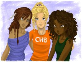 Heroes of Olympus - The Girls by FlockeInc