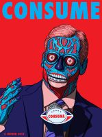 Roger Goodell NFL Commissioner CONSUME They Live by HalHefnerART