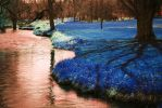 Shadow in Blue on the Creek by bloomingvinedesign