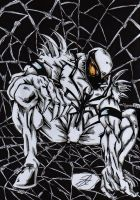anti venom spiderman torment by darkartistdomain
