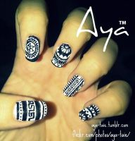 Arabian Nail Art by Ayooshie
