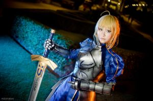 FATE/Stay Night, Saber by fritzfusion