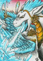 ACEO: Queen of ice by FieryGabreilla