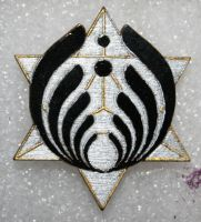 Bassnectar star black silver and gold by Tiduk