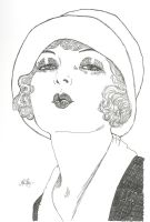 Flapper Girl and her Hat by melanierogers