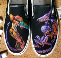Metroid shoes by K-6