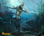Moonga - Water Elf Warrior by Suzanne-Helmigh