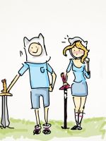 Finn and Fionna- adventure time by AdrianaColera