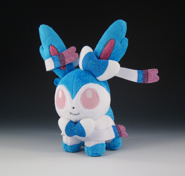 Shiny Sylveon (with sparkles) by caffwin