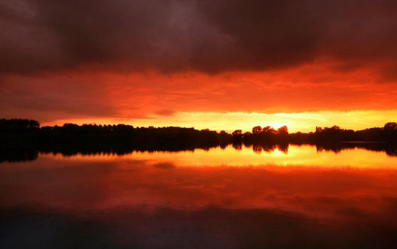 Lake On Fire by jva3
