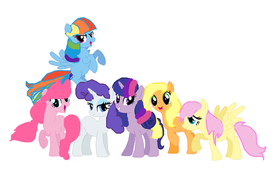 Mlp Mane 6 (Mane Styles Switched) by Annafifteena-Tfm
