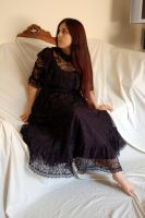 Black Lace dress 3 by InTenebris-Stock