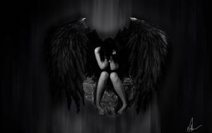 Fallen Angel by justonesmilee