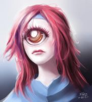 (Cyclops girl) Redesign a character doodle by FiRez-DA