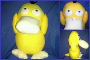 FOR SALE: Psyduck Plush by CrescentMoon96