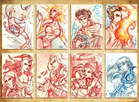 Sketchcards V by CapnFlynn