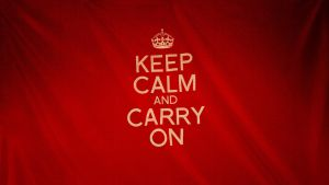 Keep Calm and Carry On by Jaredk8