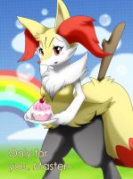 FAN-Braixen: Only for you,Master~ by Rexcalibur25
