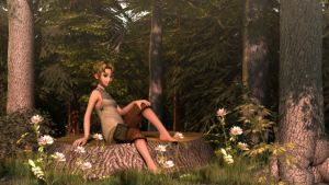 Ilia in the Woods II by DarklordIIID